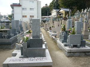 神戸市東灘区にあるお墓、岡本西墓地