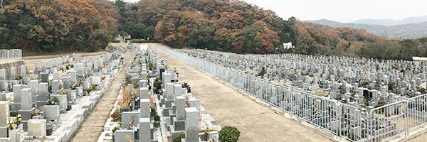 神戸市の鵯越墓園の写真
